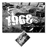 DigitalOase BILD/Poster + GeburtstagsKarte im Set 1968
