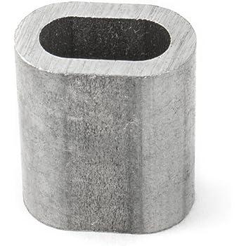 10 x PRESSKLEMME FÜR SEIL 1mm Aluminium Drahtseilklemme Stahlseil ...