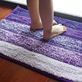 Anfayejia Non Slip Microfiber Bath Rug Shower Mat Super Soft For Bathroom  Bedroom Kitchen 15.8*23.7inch Purple