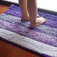 anfayejia antideslizante de microfibra alfombra de baño alfombrilla de ducha super suave para baño Dormitorio Cocina 15,8* 23.7inch morado