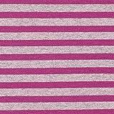 Fabulous Fabrics Alpenfleece Kuschelsweat Streifen – Purpur/grau — Meterware ab 0,5m — zum Nähen von Sweatshirts, Nachtwäsche und Jumpsuits