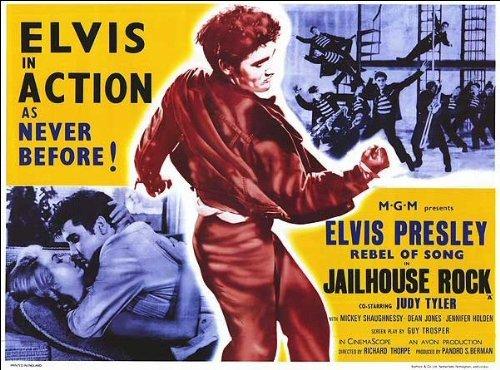 Elvis Presley: JAILHOUSE ROCK - Rhythmus hinter Gittern (1957) | US Import Filmplakat, Poster [68 x 98 cm]