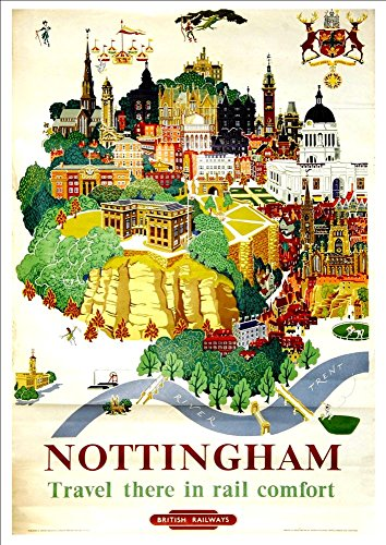 british-railways-nottingham-wonderful-a4-glossy-art-print-taken-from-a-rare-vintage-railway-poster