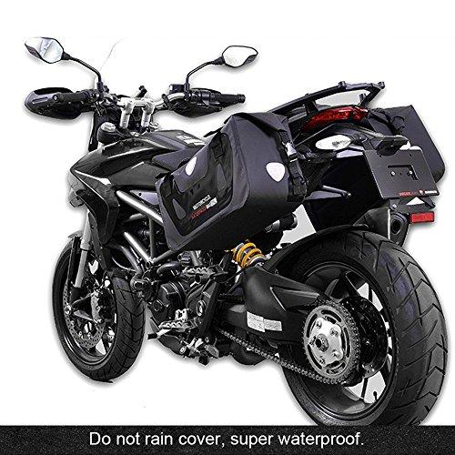 HUKOER Tasche Motorrad-Wasserdicht Satteltasche Motorrad Satteltaschen Wasserdicht Reise Gepäck Tasche (2pc), schwarz