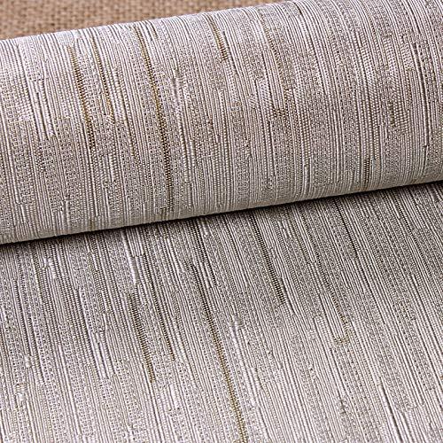 ZCHENG Moderne minimalistische Wandverkleidung für Wohnzimmer, Schlafzimmer, nahtlos, Leinen, gestreift, wasserfest, A407 -
