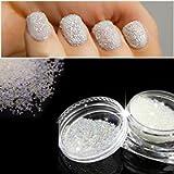 QIMEIYA Nail Art Micro Mini Beads 0.6mm AB Crystal Glass Gardient Beads Dazzling Caviar Beads 3D Nail Decoration Nail…