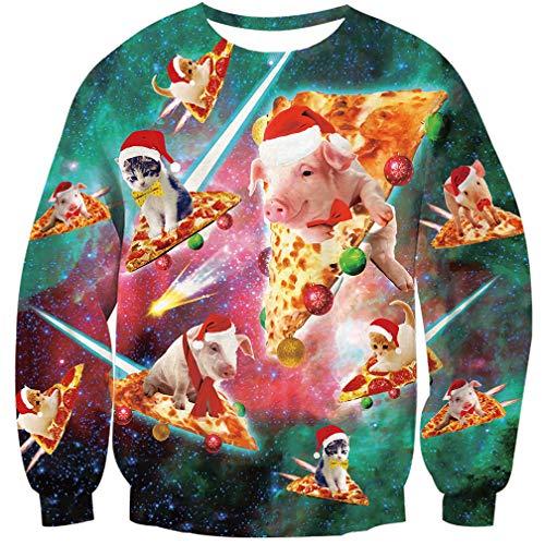 Goodstoworld Jersey Navidad Mujer Hombre Pareja 3D Christmas Sweater Ropa  Divertida Vintage Elfo Cerdo Jerseys Traje fac3801432e2