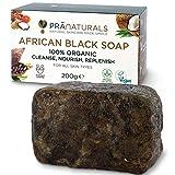 Best Los jabones para aclarar la piel - PraNaturals Jabón Negro Africano 200g, Orgánico y Vegano Review