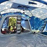 skandika Nimbus 12-Personen Tunnel/Familienzelt, 3 Schlafkabinen, Frontwand verstellbar, 200 cm Stehhöhe - 4