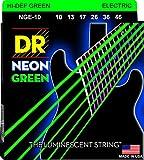 DR Strings NEON 10-46 Jeu de Cordes pour Guitare Electrique Vert