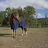 netproshop Hochwertige Fleecedecke Abschwitzdecke für Mini, Shetty, Pony Auswahl, Groesse:75, Farbe:Dunkelblau