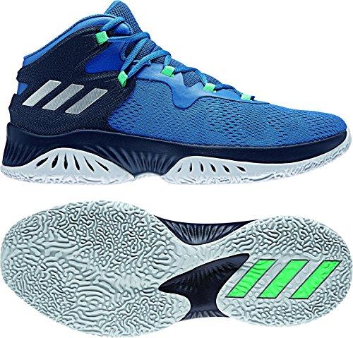 adidas Herren Explosive Bounce Basketballschuhe, Blau (Azuosc/Plamet/None 000), 43 1/3 EU