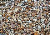 Fototapete Steinmauer aus Natursteinen XS 150 x 105cm - 3 Teile Vlies Tapete Wandtapete - Moderne Vliestapete - Wandbilder - Design Wanddeko - Wand Dekoration wandmotiv24