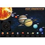 1art1 Das Sonnensystem Poster (91x61 cm) Unser Sonnensystem für Kinder und Erwachsene, Weltall Universum Poster, Kosmos Fotop