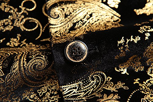 MOGU Herren Printed Casual Blazer Jacke Gold