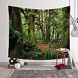 HmDco Wald Wandteppich Wand Decke Hängende Tuch Schlafzimmer Dekoration, Grün, 203 * 150 cm