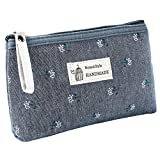 YSoutstripdu Women es Travel Storage Bag Flower Printed Canvas Women Cosmetic Pouch Purse Fass ' s...