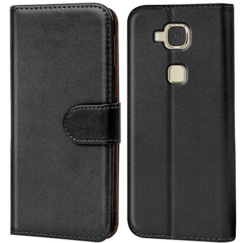 Verco Huawei GX8 Hülle, Handyhülle für Huawei GX8 > G8 Tasche PU Leder Flip Case Brieftasche - Schwarz