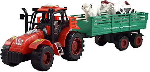 Toykart Farmer Friction Tractor Trolley Toy for Kids, Tractor for Kids with Animals Toys