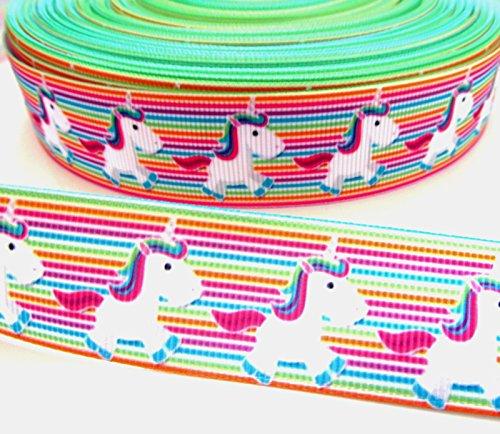 Einhorn Grosgrain Dekoband (5cm breit) 1m x 25mm Haar Kuchen Dummy Clip Kids Mystical Pferd Mädchen Geschenkpapier