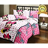 TRUSTFUL Mickey Mouse Cartoon Kids Design Print Single Bed Reversible AC Blanket | Dohar | Quilt | Comforter | Duvet (Polycotton, Multicolor)