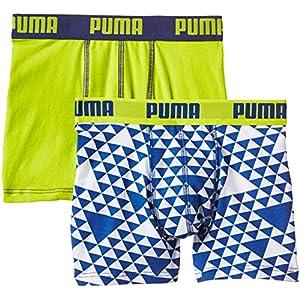 PUMA Jungen Bodywear Graphic Boxer 2P