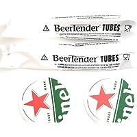 Lot de 2 tubes beertender pour machine à bière Seb et Krups + 2 sous bocks offerts