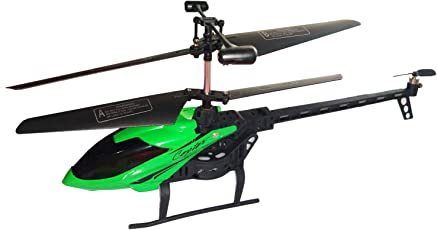 Ruchiez Radio Remote Control Flying Helicopter with Unbreakable Blades for Kids - Green