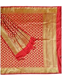Dark Red Colour Banarasi Silk Dupatta With Floral Jaal Pattern Zari Embroidery