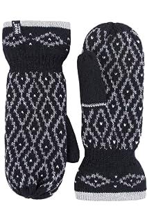 AS// DE84198 Winter Frauen Warm Dame Girl dicke Handschuhe Faustlinge Pelz Baumwo