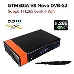 MeterMall V8 Nova DVB-S2 Freesat Satellite Receiver H.265 Built-in WIFI TV Box EU plug