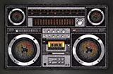 Empire Interactive 662934 - Felpudo (60 x 40 cm, polipropileno), diseño de radiocasete