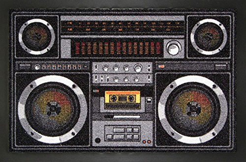Empire Merchandising GmbH, 662934, Zerbino Ghetto Blaster, 60 x 40 cm, in polipropilene, (Bunt)