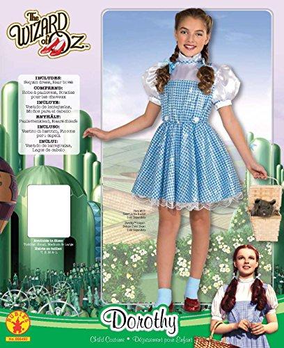 Imagen de rubie's disfraz de oficial de dorita del mago de oz con lentejuelas para niños  talla pequeña. alternativa