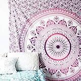 GANESHAM HANDICRAFTS - Indische handgemachte Hippie-Wand-Dekor-Wand-Kunst Indische Bettwäsche-Decke böhmische Bettwäsche-Decke Indische Steppdecke Königin-Tapisserie Mandala Wand-hängende Tapisserie-Strand-Tuch-Strand-Tapisserie-Strand-Decke