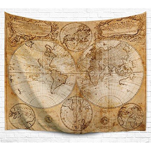 Asenart mappa del mondo tapestry poliestere 3d stampa e tintura, decorazione della parete, tende, sciarpe, scialli protezione solare, copriletti, tovaglie regalo di papà