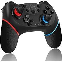 Controller Wireless per Nintendo Switch, RegeMoudal Bluetooth Switch Pro Controller, Switch Joystick Gamepad con Batteria Ricaricabile/Gyro Axis/Dual Vibration/Turbo/Screenshot Funzioni