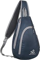 WATERFLY Shoulder Sling Chest Bag Crossbody Sling Backpack for Cycling Hiking Multipurpose Daypacks for Men Women