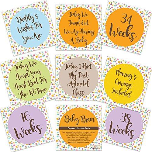 Bébé cerveau de grossesse Milestone Cartes Mum to Be Grossesse cadeaux Livraison gratuite