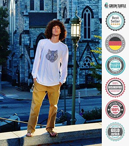 Nerd? I prefer the term intellectual badass! Langarm T-Shirt Grün