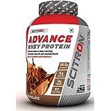 Scitron Advance Whey Protein (57 Servings, 25.5g Protein, 6g BCAAs, 0g Sugar, 20 Vitamins & Minerals) – 2kg (Milk…