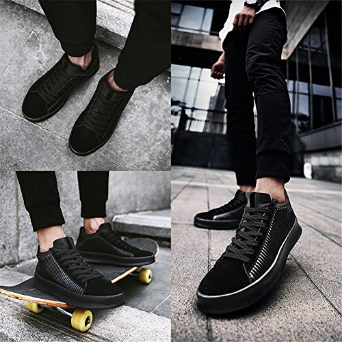 JOYORUN Herren Sneaker, Low-top Skateboardschuhe, Classic Sport Schuhe Sneaker Turnschuhe Schwarz