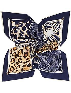 Lady's Leopard 100% seda de morera diagonal 90cm*90cm cuadrado bufanda