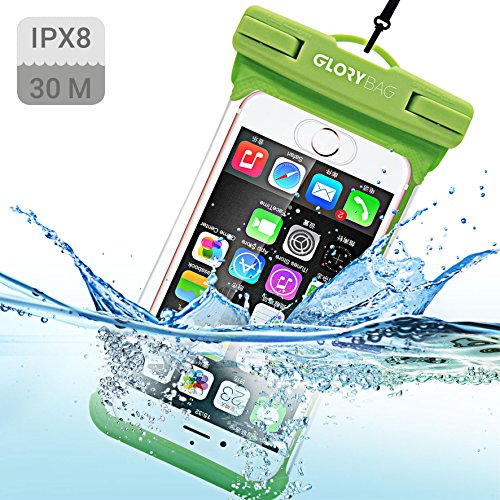 Glorybag - Premium Handy Unterwasserhülle – mit Touch ID Fingerprint – Hochwertiges Handycase für Extreme Bedingungen – Optimale Schutzhülle Zum Praktischen Outdoor-Einsatz für Alle Smartphones