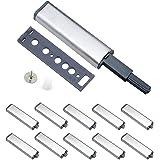 Deurdemper, 10 stuks meubeldeurdempers roestvrij staal touch latch sluitingen damper buffer voor kastdeuren Case drawer schar