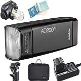 Godox AD200Pro AD200 Pro 2.4G TTL Bolsillo Flash 200W HSS 1/8000s con 14.4V/2900mAh Litio Batería para Nikon Sony Fujifilm Ol