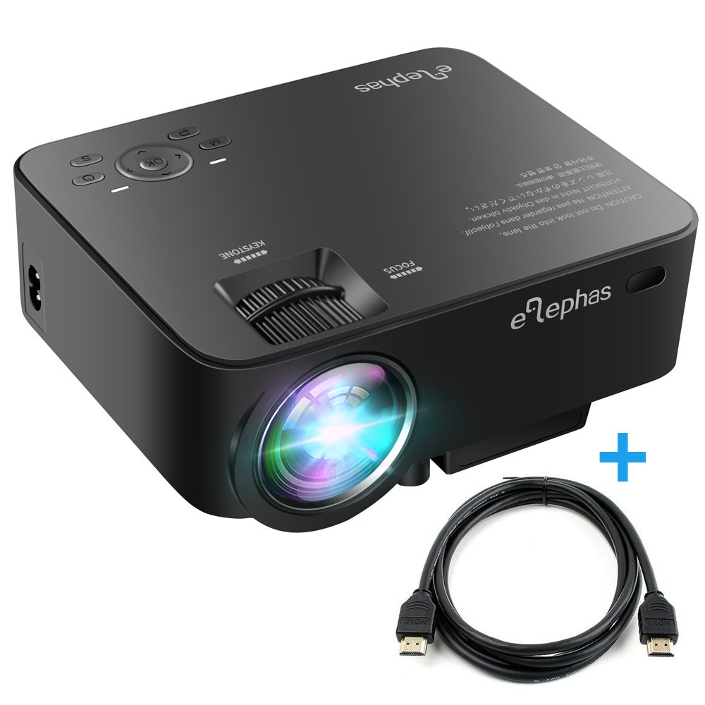 elephas 1500 lumens led multimedia mini video projector portable for home cinema ebay. Black Bedroom Furniture Sets. Home Design Ideas
