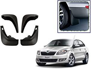 Premium Quality Car O.E Type Mud Flaps for -Skoda Rapid (by Lowrence)