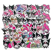 50 قطعة ملصقات قرطاسية لطيفة لكرومي ميلودي سانريو كيروبي بيكيل للأطفال دفتر يوميات دفتر القصاصات