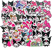 50PCS Cute Kuromi Melody Sanrio Keroppi Pekkle Stickers for Children Letter Diary Scrapbooking Stationery Stic